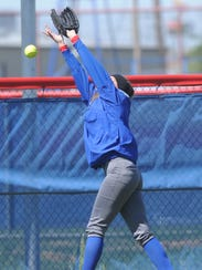 Cooper outfielder Faith Webb, who started the game