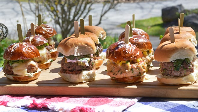 A buffet featuring several different sliders lets your guests try multiple flavor combos.