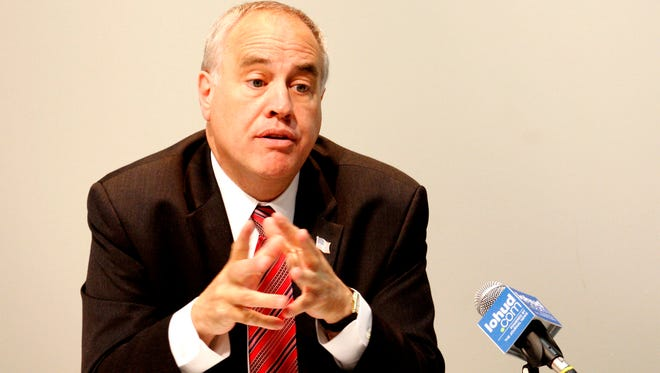New York State Comptroller Tom DiNapoli, talks with The Journal News Editorial board June 4, 2014.