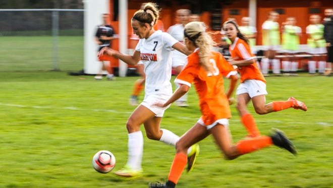 Brighton's Emma Shinsky had a hat trick in a 5-1 victory over Pinckney on Tuesday.