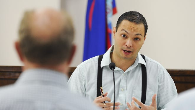 Sen. Mike San Nicolas is shown during a meeting at the Guam Legislature in Hagatna on Tuesday, Oct 13.