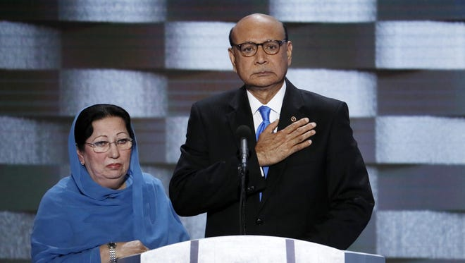 As Republican presidential nominee in 2016, Donald Trump criticized Khizr and Ghazala Kahn, parents of fallen Army Capt. Humayun Kahn.