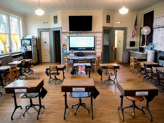 The learning area at the Strange School photographed