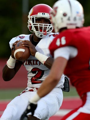 Princeton quarterback Tyrell Gilbert is among the GMC standouts scheduled to play in the Divisions I-III Ohio North-South game on April 26 in Dayton.