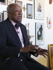 Ernie Davis, a former mayor of the city of Mount Vernon, is pictured in his architecture office in the city, March 22, 2017.