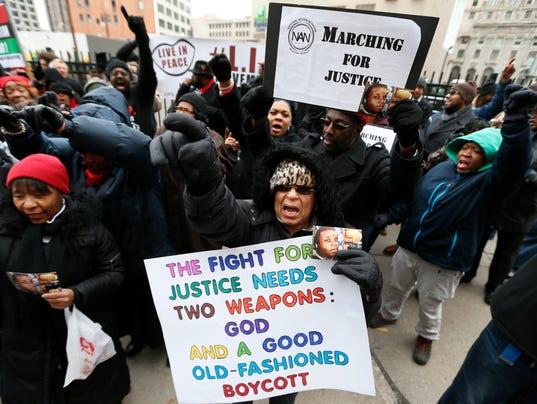 AP FERGUSON NATIONWIDE PROTESTS A USA MI