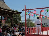 A Shorinji-Kempo demonstration takes place during the Salinas 2015 Obon Festival on Sunday at the Salinas Buddhist Temple.