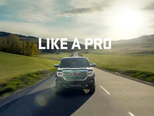 A frame grab from the 60 second commercial from GMC