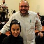 'Washington Post' correspondent Jason Rezaian and his wife in Tehran in 2013.