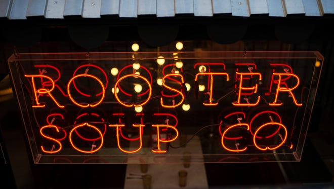 The entrance to the much-anticipated Rooster Soup Company in Philadelphia.
