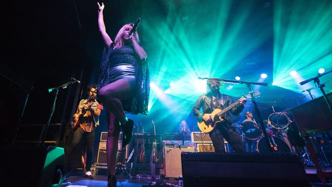 Grace Potter performs during day two of the Grand Point North music festival on Saturday September 12, 2015 in Burlington.