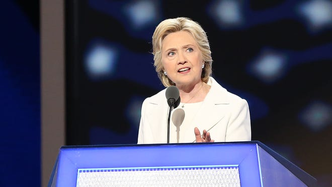 Hillary Clinton became the first woman to accept a major party's nomination for president, delivering an acceptance speech that wowed members of Maryland's delegation to the Democratic National Convention.