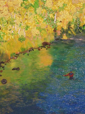 "Patricia Nay's piece,  ""Autumn Pleasure,"" won three awards in the Virgin Valley Artists Association's October's themed competition ""Autumn Splendor."""