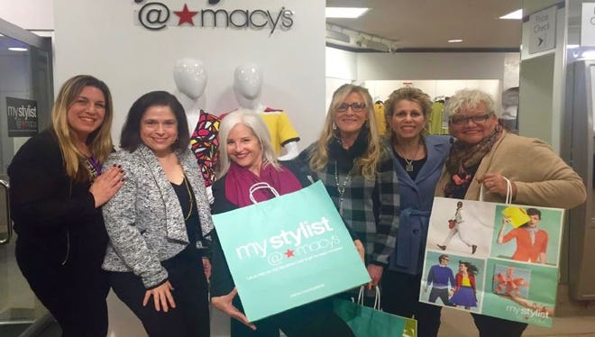 "Christine Dutcher – Macy's District Fit Coordinator, Sue Squires – Macy's ""My Stylist"" representative, Margo Gray – NJDSH Fashion Stylist/Assistant, Lila Taylor - NJDSH President, Kathy Kady-Hopkins – NJDSH Vice President/Public Relations, Debra Fleetwood – NJDSH Fashion Show Director."