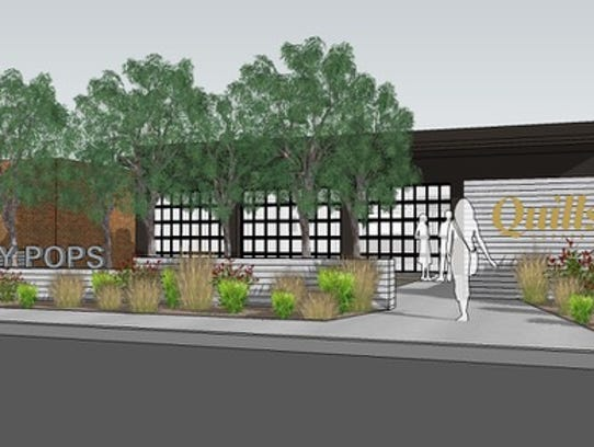 Rendering of a joint Quills Coffee and Steel City Pops