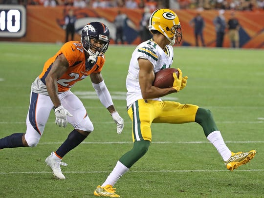 Green Bay Packers wide receiver Trevor Davis (11) makes