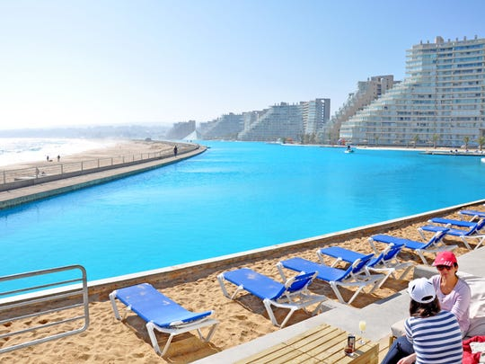 The 60-acre manmade lagoon at the San Alfonso Del Mar