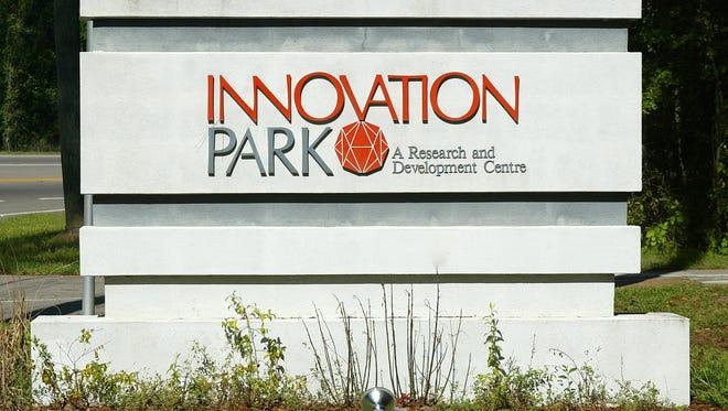 Innovation Park was rocked by embezzlement in 2010.  Mark Wallheiser/Democrat files Innovation Park sign
