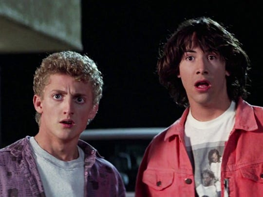 """Keanu Reeves made a name for himself with his iconic role as the most-excellent Ted in """"Bill and Ted's Excellent Adventure."""""""