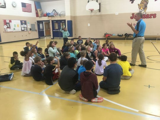 Jackson Elementary School fifth-graders were led by