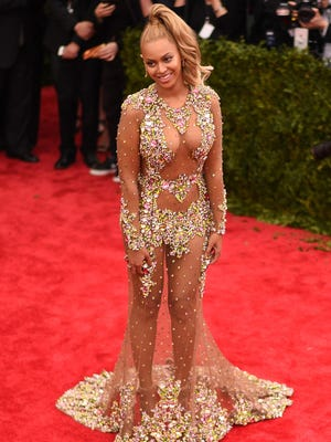 Two years after going vegan, Beyonce wows May 4 at the Costume Institute Benefit Gala at the Metropolitan Museum of Art. Beyonce describes how her trainer Marco Borges weaned her from fried chicken and fajitas in his new book, The 22-Day Revolution.