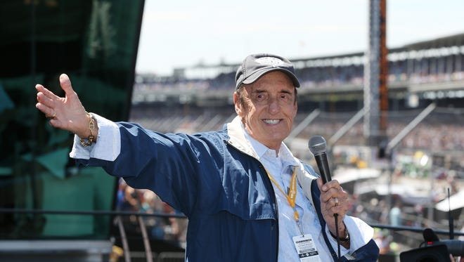 During his last appearance at the Speedway Jim Nabors smiles before the 98th Indianapolis 500 race at the Indianapolis Motor Speedway on May 25, 2014. Nabors died on Nov. 30, 2017, at the age of 87.