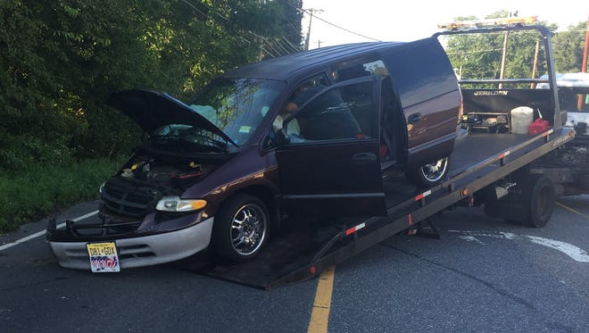 A driver was reported injured after a vehicle struck a pole  Aug. 8 along South Main Road, Vineland.