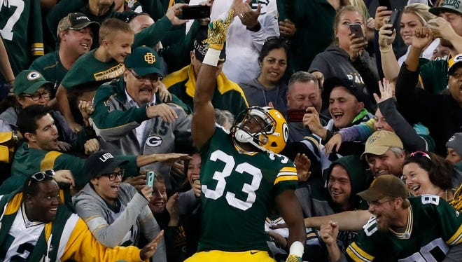 Packers running back Aaron Jones, his teammates and the fans have high expectations for this season.