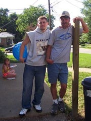 Allen Berly Todd, Jr. with his father Chris Meimann
