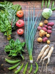 An example of a CSA share from Stonecrop Garden.
