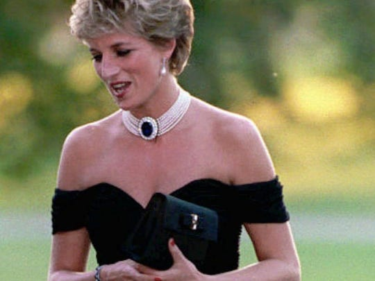 "In 1996, the media dubbed this the ""revenge dress,"" because Diana wore it the same day Prince Charles admitted his affair with Camilla Parker Bowles."