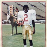 Deion Sanders, here in 1984, left Fort Myers for Florida State University in 1985, choosing the Seminoles in part so his mother could see his games.