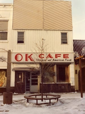 The OK Cafe at 511 St. Germain St., photographed here in January 1980, served Chinese and American food. It was open 24 hours a day from 1923 to 1940.