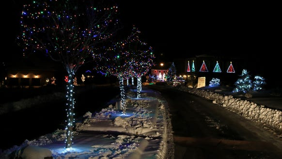 """Fairview Drive leads to """"Christmas Lane,"""" a loop of"""