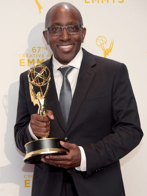 "487985246.jpg LOS ANGELES, CA - SEPTEMBER 12:  Greg Phillinganes, winner of the award for musical direction for Stevie Wonder: Songs in the Key of Life, an All-Star Grammy Salute,"" poses in the press room during the 2015 Creative Arts Emmy Awards at Microsoft Theater on September 12, 2015 in Los Angeles, California.  (Photo by Jason Kempin/Getty Images)"