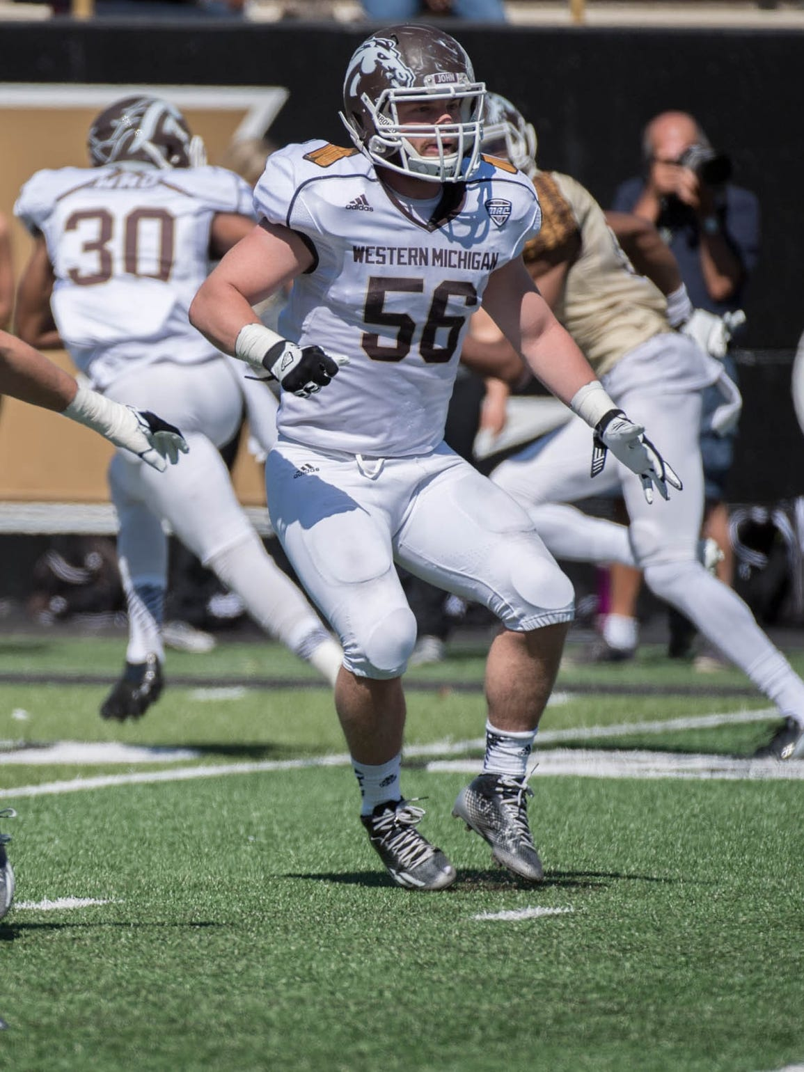 WMU's Kasey Carson (56) during the 2016 spring game.