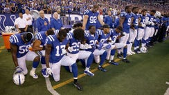 Some Colts players knelt during the national anthem