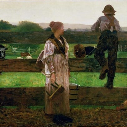 "Winslow Homer's ""Milking Time"""