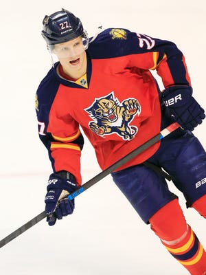 Florida Panthers center Nick Bjugstad has 13 goals and 21 points this season.