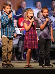 Youngsters take part in Calvary Baptist's celebration of its 50th anniversary.