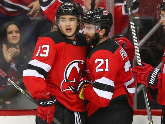NHL: Winnipeg Jets at New Jersey Devils