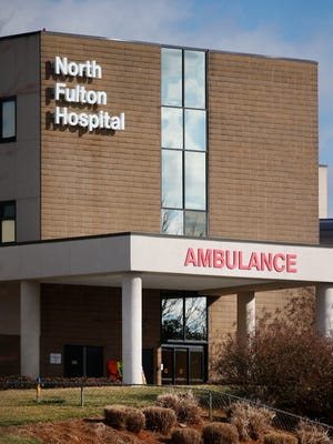 North Fulton Hospital, where Bobbi Kristina Brown is being treated, is shown Monday, Feb. 2, 2015, in Roswell, Ga.