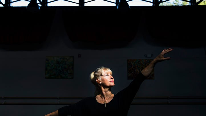Susan Gregory, 56, after teaching a ballet fitness