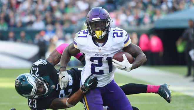Vikings running back Jerick McKinnon has been a rushing and receiving threat down the stretch.