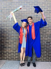 "Joao Souza and Danielle Goz celebrate their Blind Brook High School graduation in June 2017. Goz was prom date and longtime friend of Souza, who was slain at Binghamton University on April 15, 2018. Goz said of Souza: ""He was the sweetest kid I've ever known and was always there for me."""