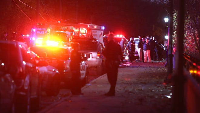 Yonkers police were pursuing a stolen van that crashed into another vehicle, killing the driver.