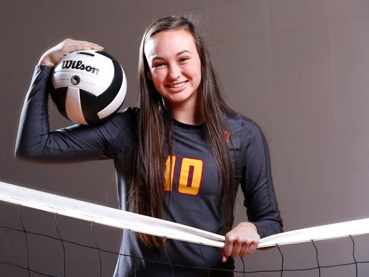 McCutcheon's Brooke Humphrey is the 2016 Journal & Courier Big School Volleyball Player of the Year.