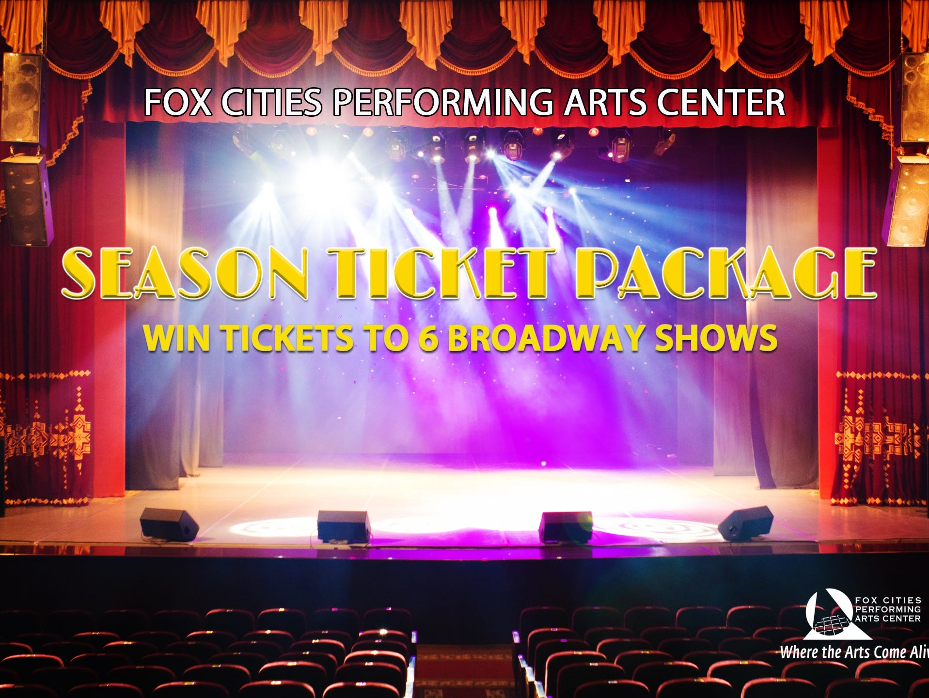 Win season tickets for 6 Top Shows including King & I, RENT and more!  Enter 11/1-11/29