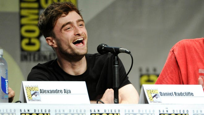 """Daniel Radcliffe attends the RADiUS-TWC """"Horns"""" panel on Day 2 of Comic-Con International on Friday, July 25, 2014, in San Diego."""
