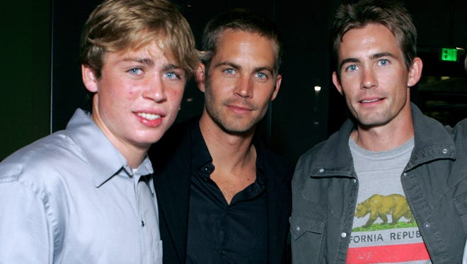 Cody Walker, left, and Caleb Walker, right,  will  help fill gaps in production of 'Fast and Furious 7' left by their brother, late actor Paul Walker.